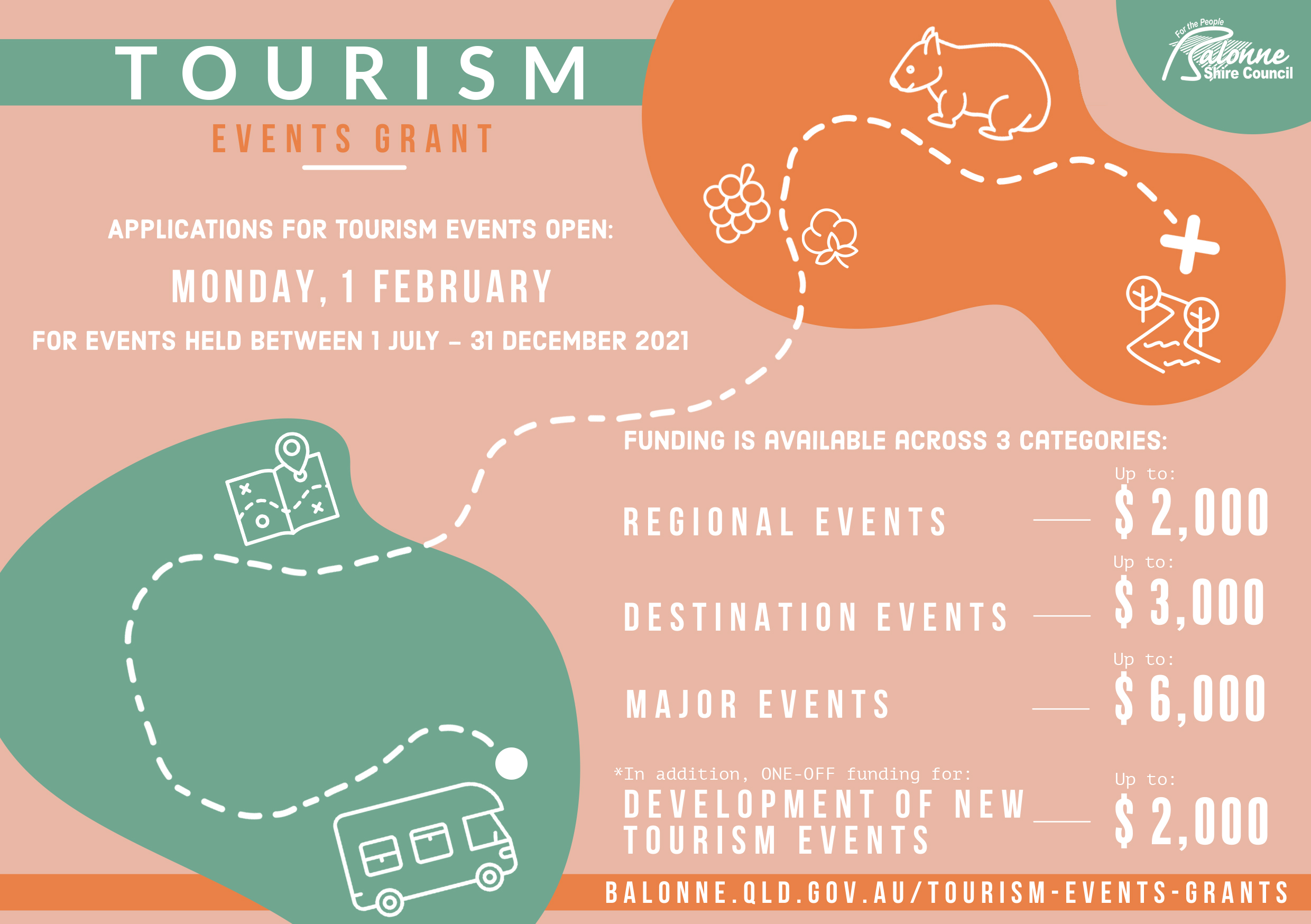 Tourism events grant flyer round 2