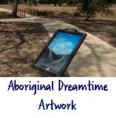Aboriginal dreamtime artwork