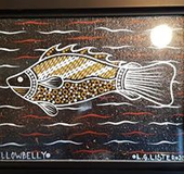 Aboriginal painting of murray cod